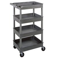 Small 4 Tub Shelf Utility Cart