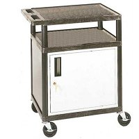 34 Inch Partially Enclosed Locking Service Cart