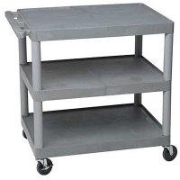Large 3 Flat Shelves Utility Cart