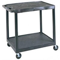 Large Capacity Two Shelf Service Cart