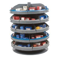 "5 Shelf 28"" Rotabin with Metal Revolving Shelves"