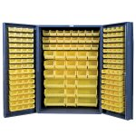 "48 Inch Wide Storage Cabinets: 4"" Deep Box Door Style: 176 Bins"