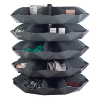 "5 Shelf 58"" Rotabins with 5 Compartments Per Shelf"