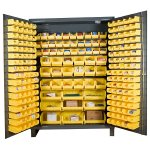 "60"" Wide Industrial Storage Cabinet: Flush Door Style: Bins227"