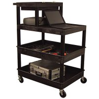 44 Inch 3 Shelf Stand Up Utility Cart