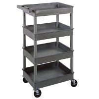 Large 4 Tub Shelf Utility Cart