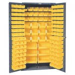"36 x 72"" Commercial Storage Cabinet with Locking Doors: 132 Bins"
