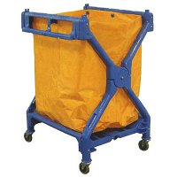 Industrial Folding Laundry Cart