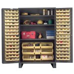 "48"" Wide Storage Cabinet: Flush Door Style: 137 Bins: 3 Shelves"
