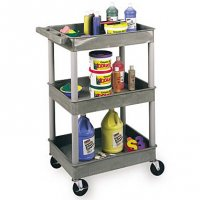 Small 3 Tub Shelf Utility Cart