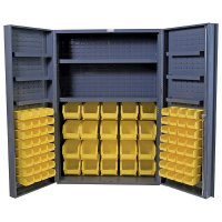 "48 x 72"" Industrial Steel Locking Storage Cabinet"