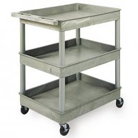 Large 3 Tub Shelf Utility Cart