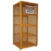 Compressed Gas Cylinder Storage Cabinet: Holds 8 cylinders