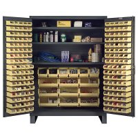 "60"" Wide Storage Cabinet: Flush Door Style: 185 Bins: 3 Shelves"