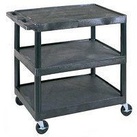 Large Capacity Three Shelf Utility Cart