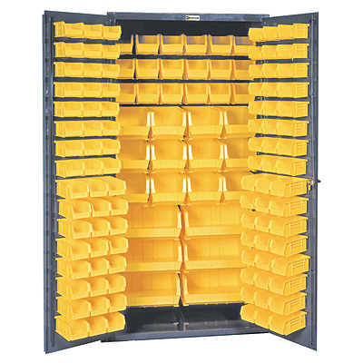 36 X 72 Commercial Storage Cabinet With Locking Doors 132 Bins