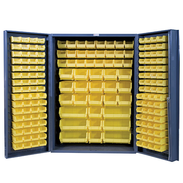 larger image  sc 1 st  Industrial Storage Depot & 48 Inch Wide Storage Cabinets: 4 Deep Box Door Style: 176 Bins [DC ...