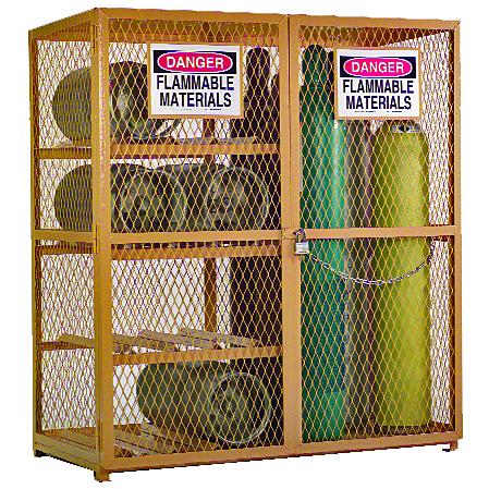 Merveilleux Compressed Gas Cylinder Storage Cabinet: Holds 17 Cylinders Larger Image
