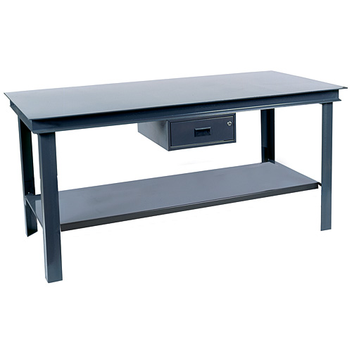 36 x 60 x 34 Extra Heavy Duty Steel Workbench - Click Image to Close