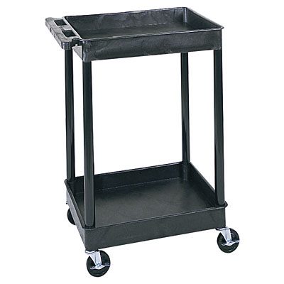 Small 2 Tub Shelf Utility Cart - Click Image to Close