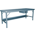 120 x36 Folding Leg Work Bench with Hard Board: 2000 lb Capacity
